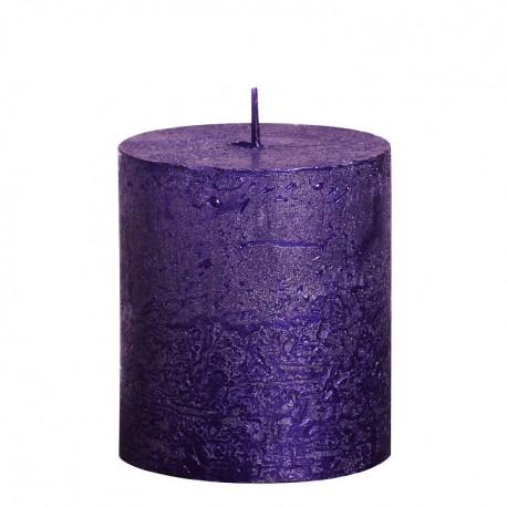 Valcová sviečka zn. Bolsius Rustic Metallic - Obrázok č. 3