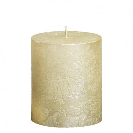 Valcová sviečka zn. Bolsius Rustic Metallic - Obrázok č. 1