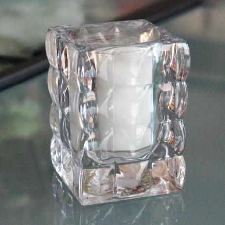Svietnik sklenený transparentný s náplňou zn. Bols - Obrázok č. 1