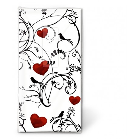 Papierové vreckovky Ornament with hearts - Paper+D - Obrázok č. 1