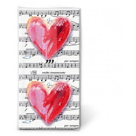 Papierové vreckovky Lovesong - Paper+Design - Obrázok č. 1