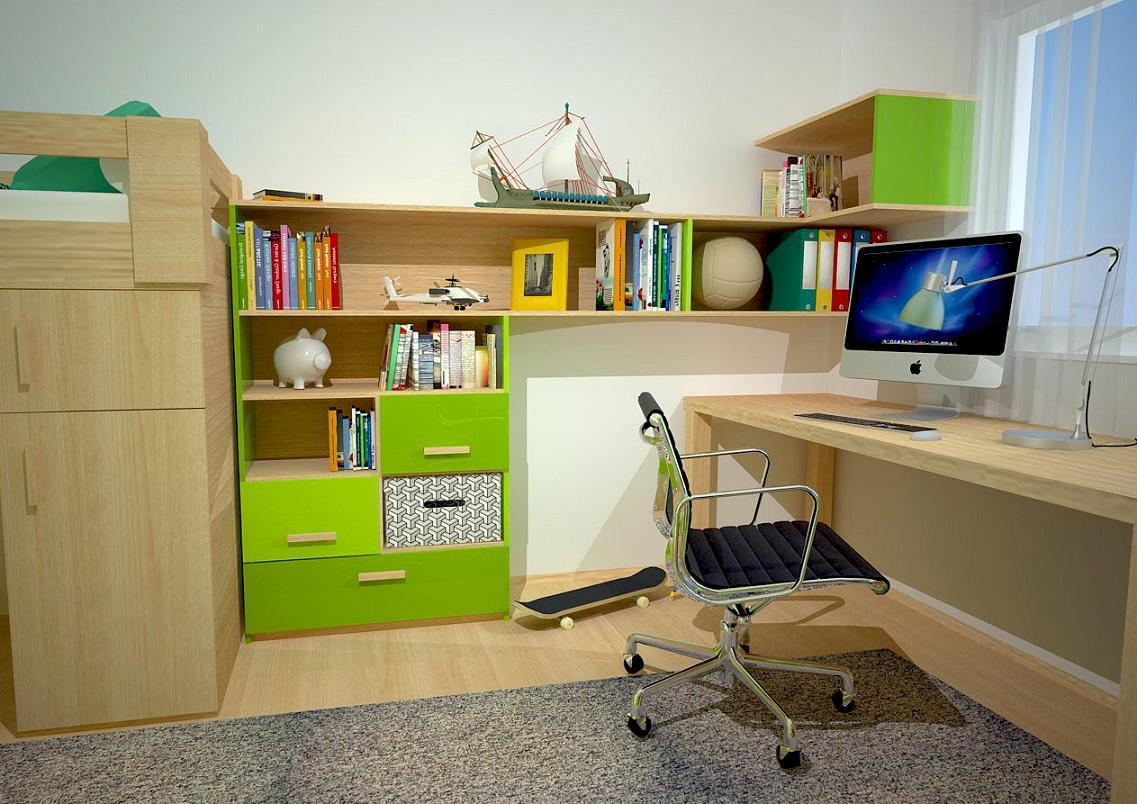 Chlapčenská študentská izba - Kútik, v ktorom je všetko potrebné vždy poruke.