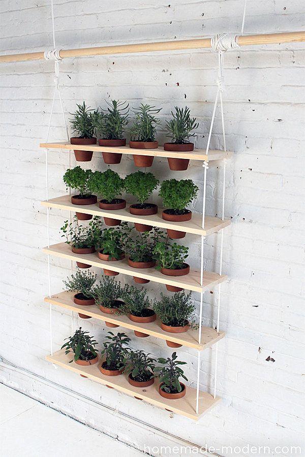 Balkónovanie - Závesný systém na umiestnenie kvetináčov, napríklad s bylinkami ;)
