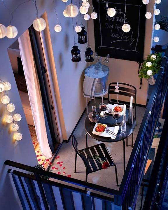 Balkónovanie - Na romantickú večeru nemusíte minúť majland :)