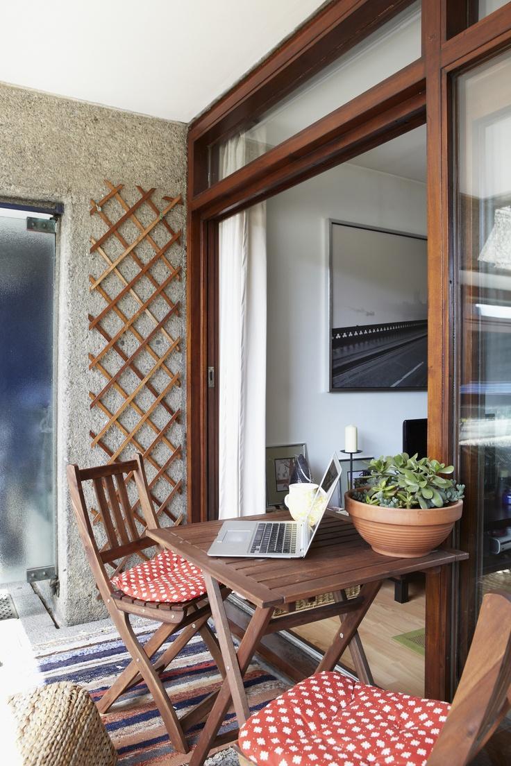 Balkónovanie - Veľké okno prepája interiér s exteriérom