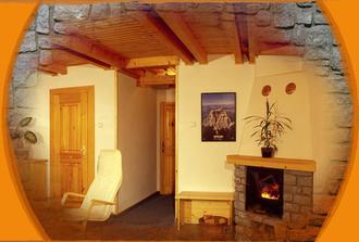 Slnečný dom - svatební cesta (I. etapa) apartmán s krbem