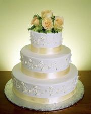 toto je veľmi pekná torta, jemné farby, ham