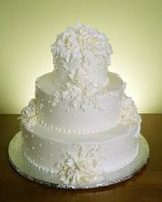 biela tortička, kde sa tie ozdôbky tvária pomerne komplikovane, nuž...