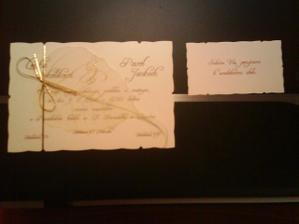 .. a toto sú naše svadobné oznamenia, trošku sme si ich upravili a sú kráááásne:)