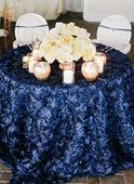 Obrusy z 3D ružičiek - Navy Blue,