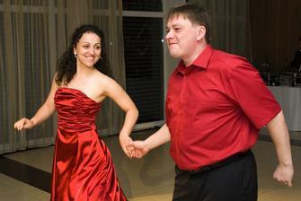 Po polnoci sme mali krátke vystúpenie - salsa