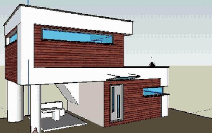 Veľká prestavba :) - Môj návrh nakreslený v sketch up