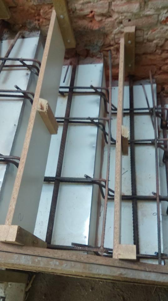 Veľká prestavba :) - Náš pokus o lomenicové schody, som zvedavý na výsledok
