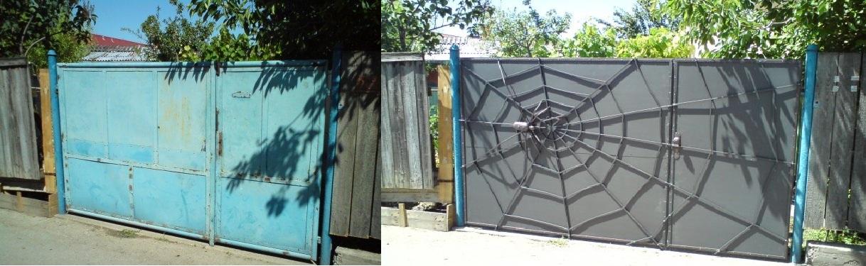 Veľká prestavba :) - Dávnejšie si prešla premenou aj brána :)