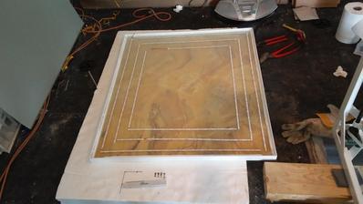 Onyx už v ráme + montáž led podsvietenia