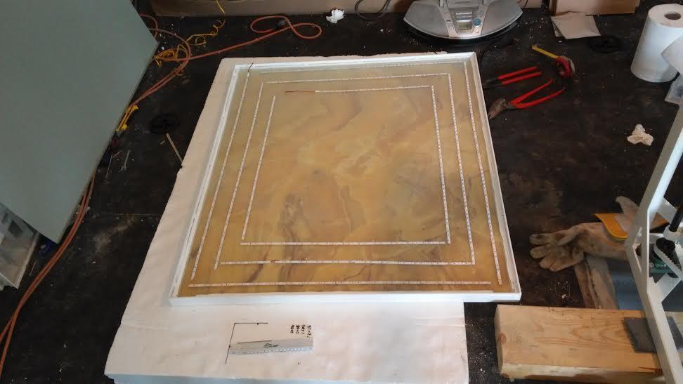 Veľká prestavba :) - Onyx už v ráme + montáž led podsvietenia
