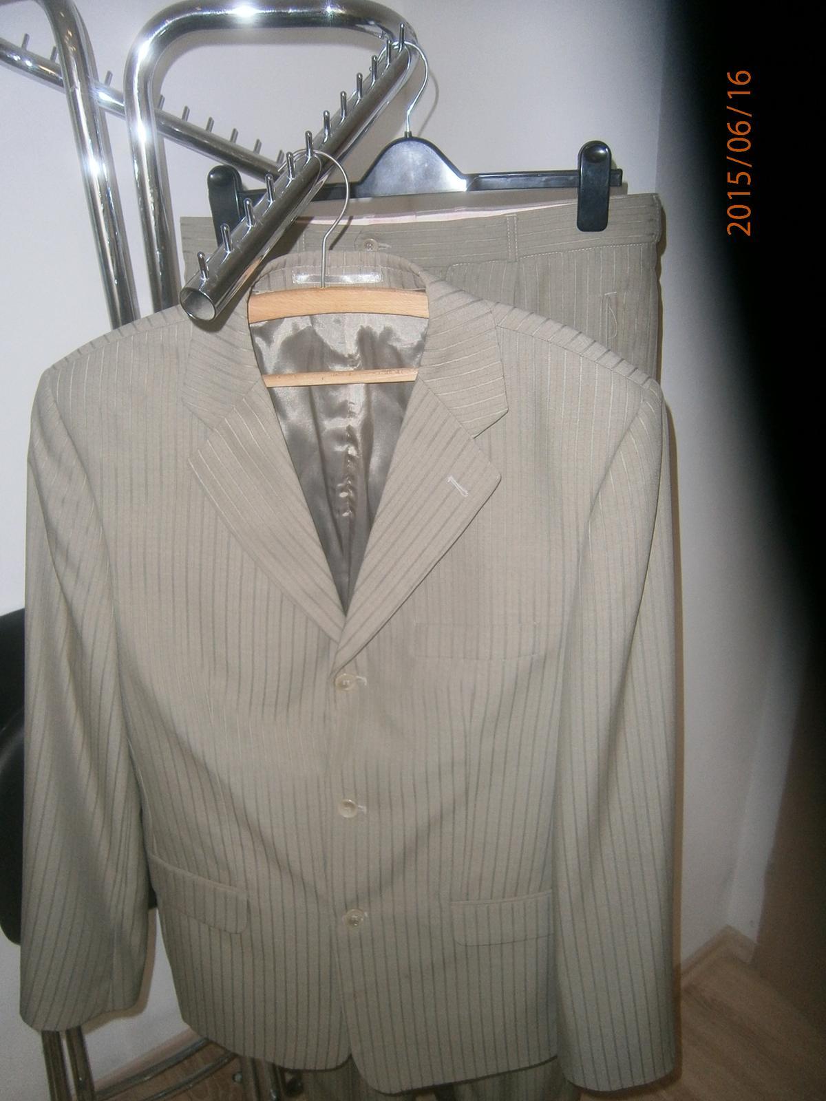 oblek-sako ,vesta,kalhoty, vel.50 - Obrázek č. 1