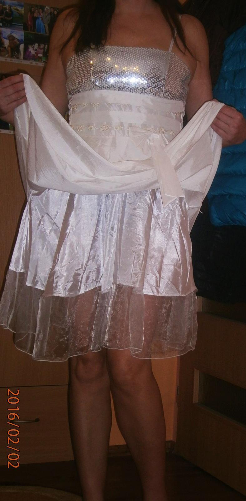 bílé šaty s flitry vel. - Obrázek č. 3