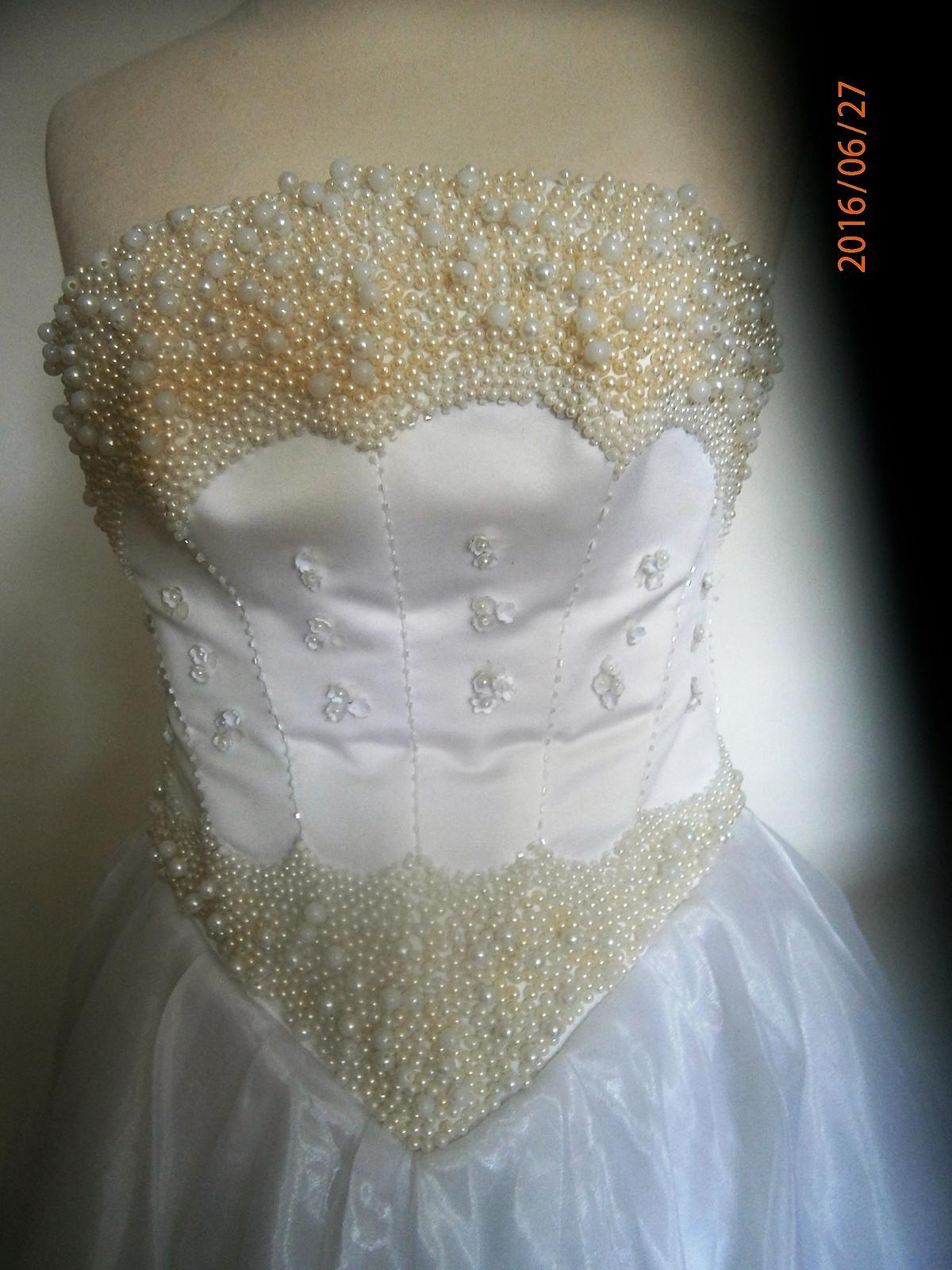 asymetrické šaty s perličkama vel. - Obrázek č. 3