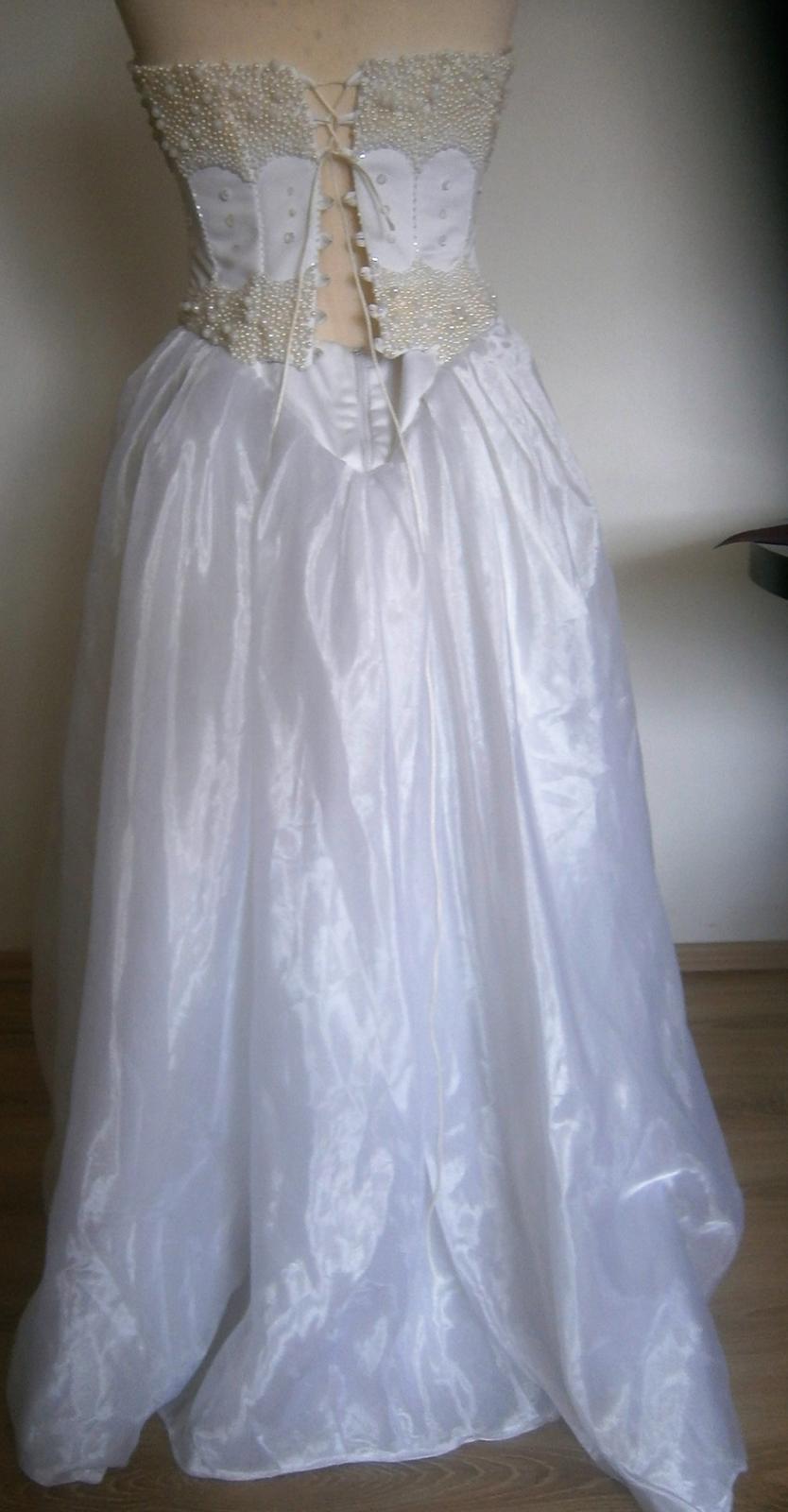 asymetrické šaty s perličkama vel. - Obrázek č. 4