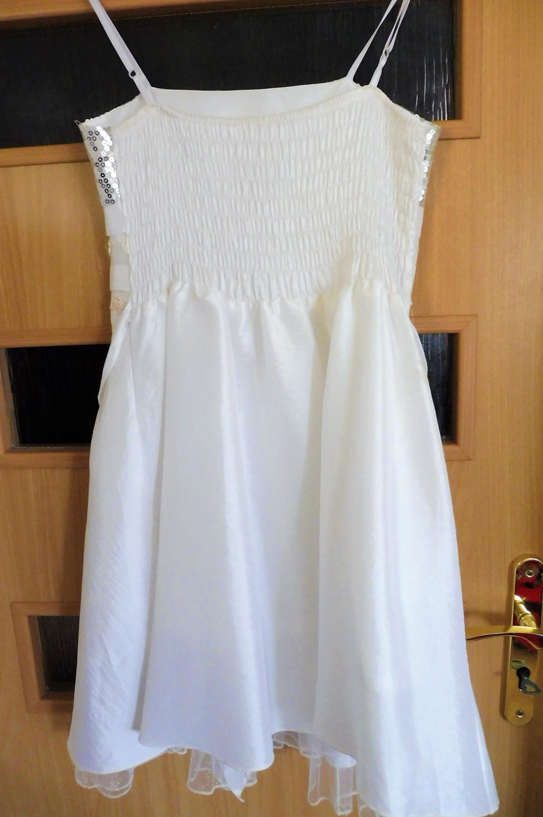 bílé šaty s flitry vel. - Obrázek č. 4