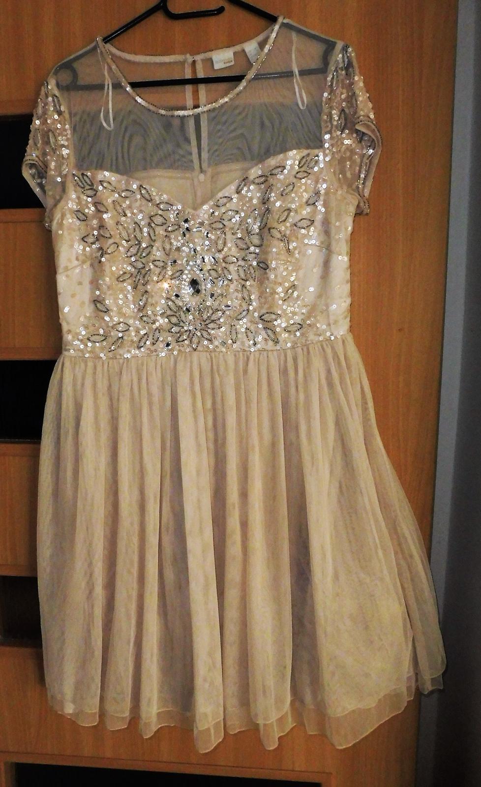 šaty s kamínky vel.40 - Obrázek č. 1