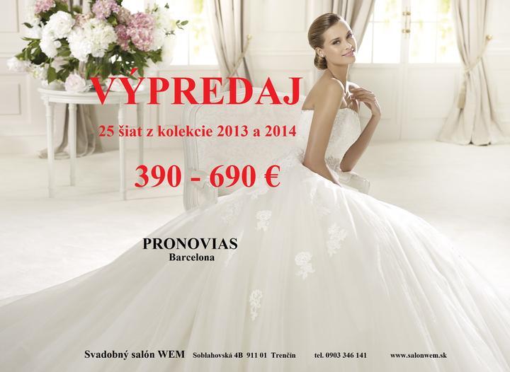 517fe1742ced Výpredaj 25 šiat PRONOVIAS kolekcia 2013 a 2014 od 390-690€ - Viac ...