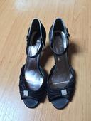 Společenské boty s otevřenou spičkou, 39