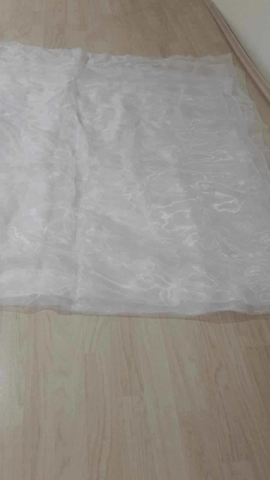 Biela organza - 10 m/140 cm - Obrázok č. 1