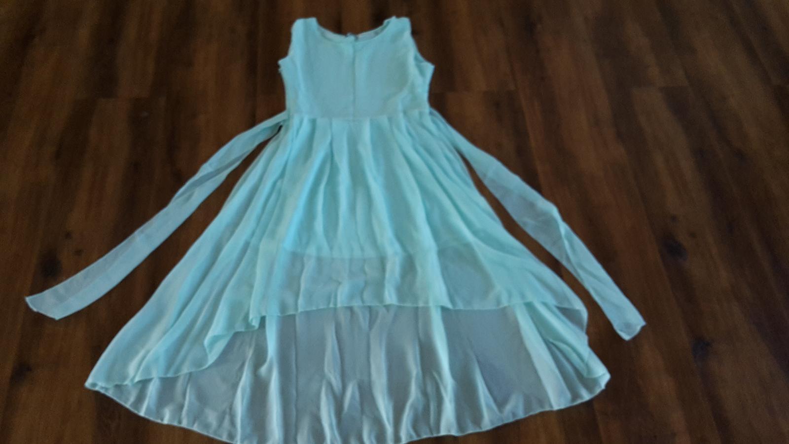 Asymetrické-polodlhé letné šaty, spoločenské šaty - Obrázok č. 1