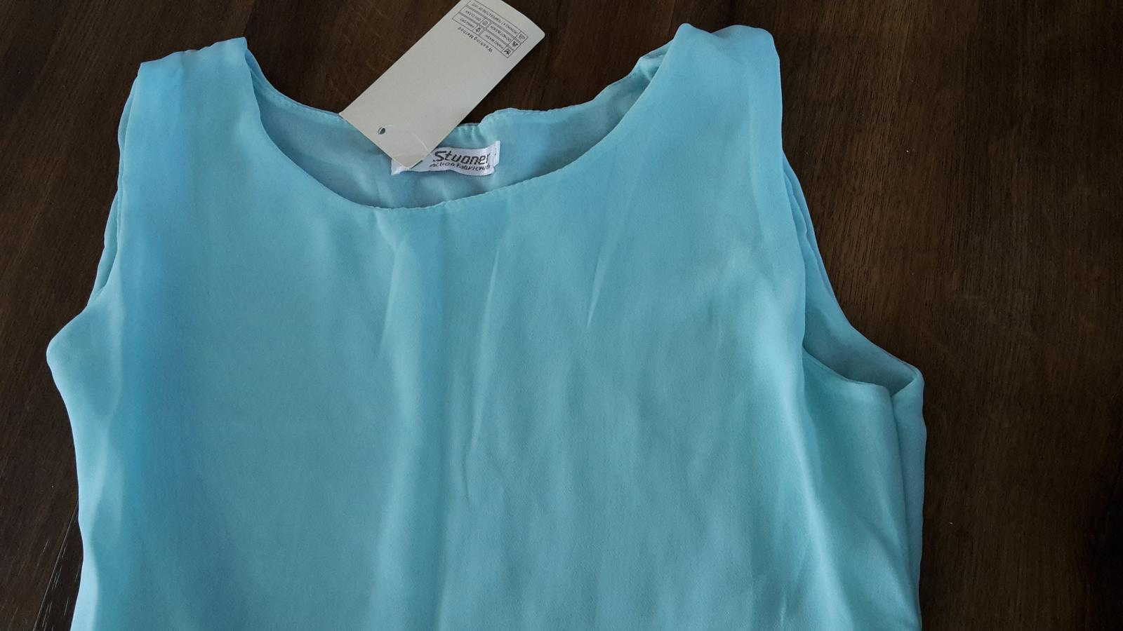 Asymetrické-polodlhé letné šaty, spoločenské šaty - Obrázok č. 3