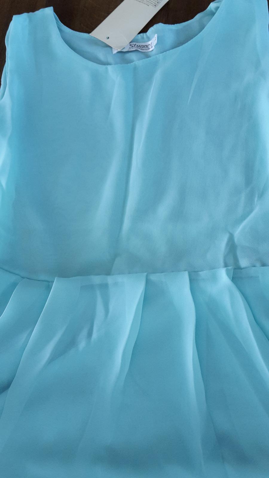 Asymetrické-polodlhé letné šaty, spoločenské šaty - Obrázok č. 4