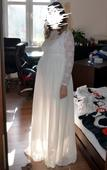Těhotenské svatební šaty + bolérko, 38