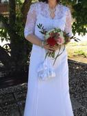 Jednoduché svatební šaty vel.40, 40