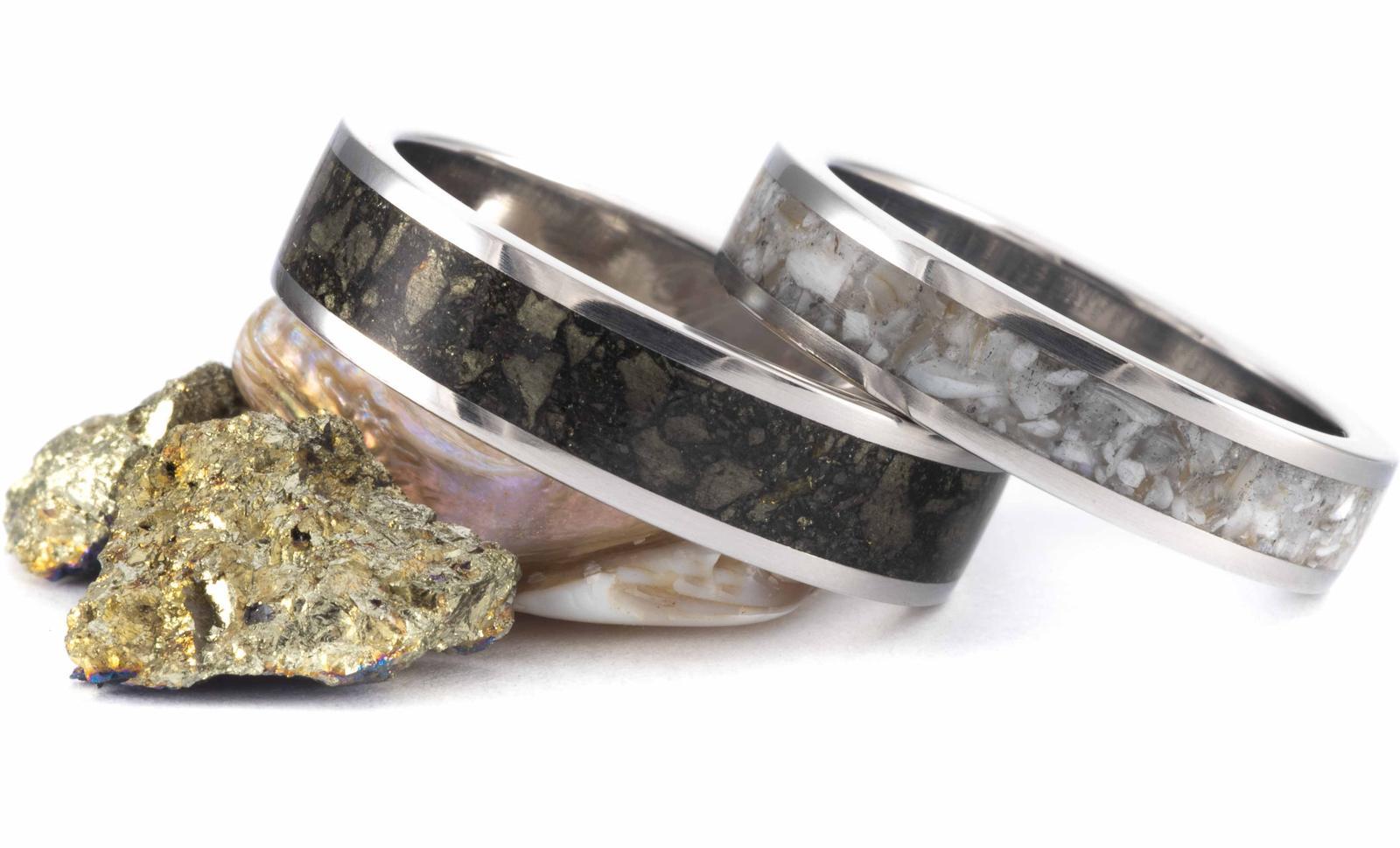 Netradiční prstýnky ze dřeva a minerálů - Obrázek č. 1