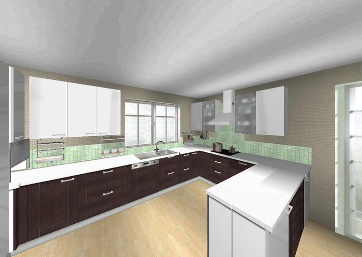 Ach ta kuchyne - a touto variantou (spodni dvirka by mohla byt i bez ramecku a mozna i o ton svetlejsi