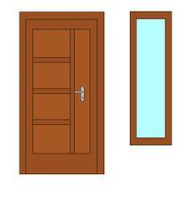 takove dvere jsme si navrhli, vedle bude jeste okno. Doufam, ze to bude vypadat dobre :-)