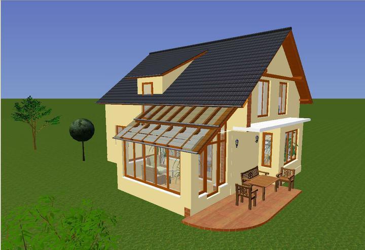 Prosim o radu, jaka strecha nad zimni zahradou - Cela strecha s makrolonem