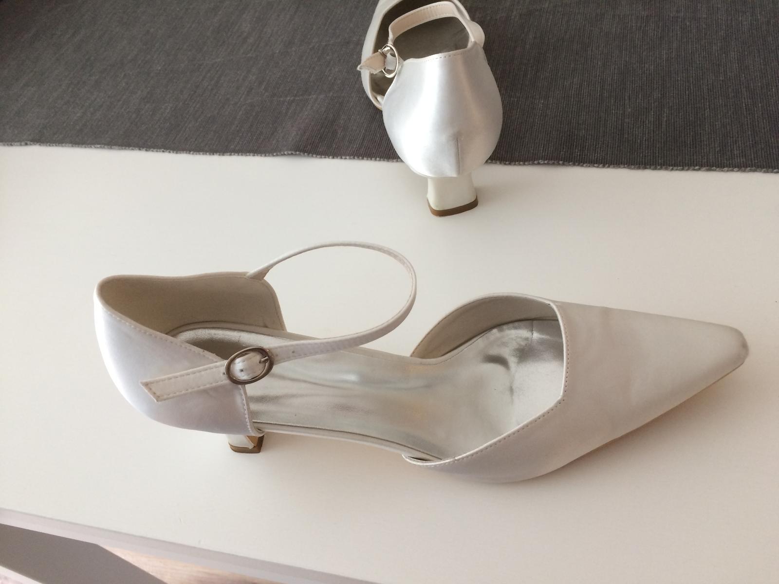svadobné topánky č. 41 farba ivory - Obrázok č. 1