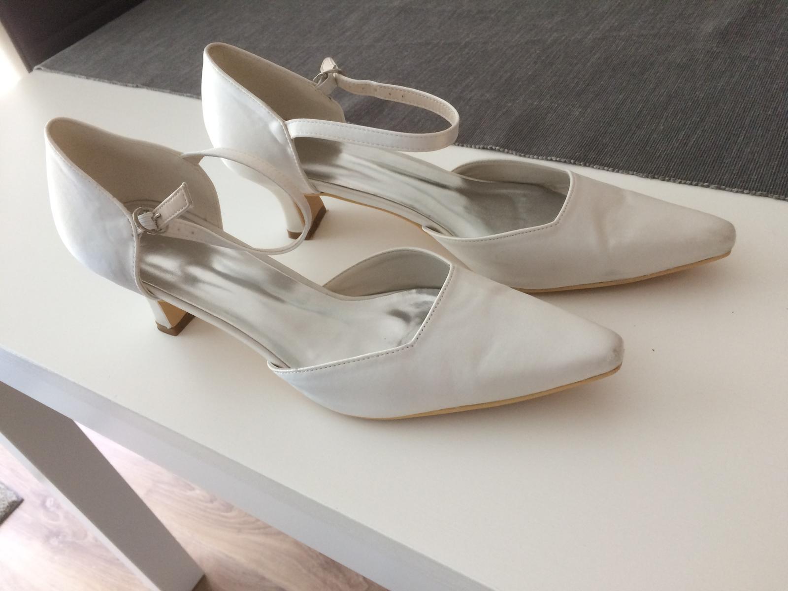 svadobné topánky č. 41 farba ivory - Obrázok č. 2