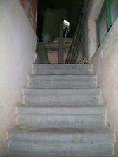 schody na podkroví staré
