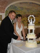naše krájení dortíku