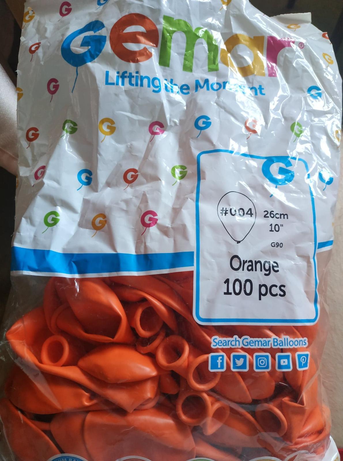 balonky oranžové - Obrázek č. 1