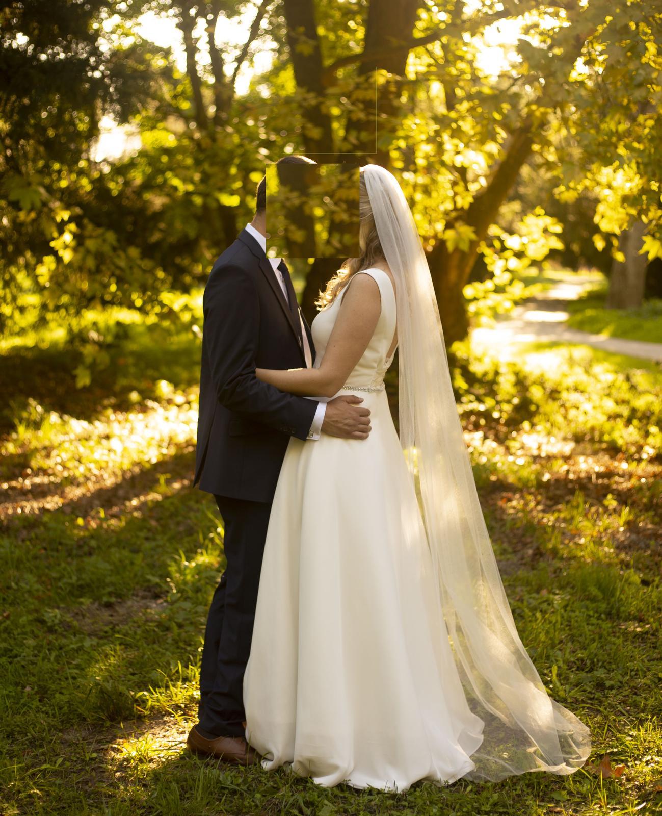 svadobné šaty, ivory (38-40)+ spodnička zadarmo - Obrázok č. 1
