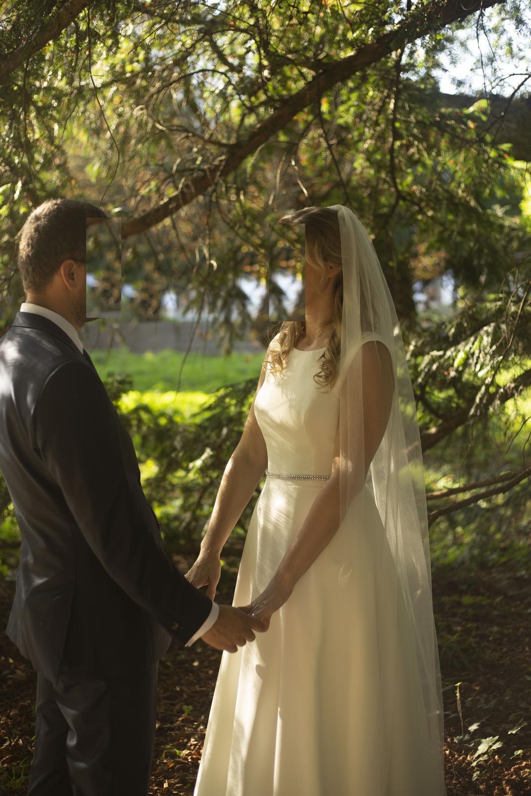 svadobné šaty, ivory (38-40)+ spodnička zadarmo - Obrázok č. 3