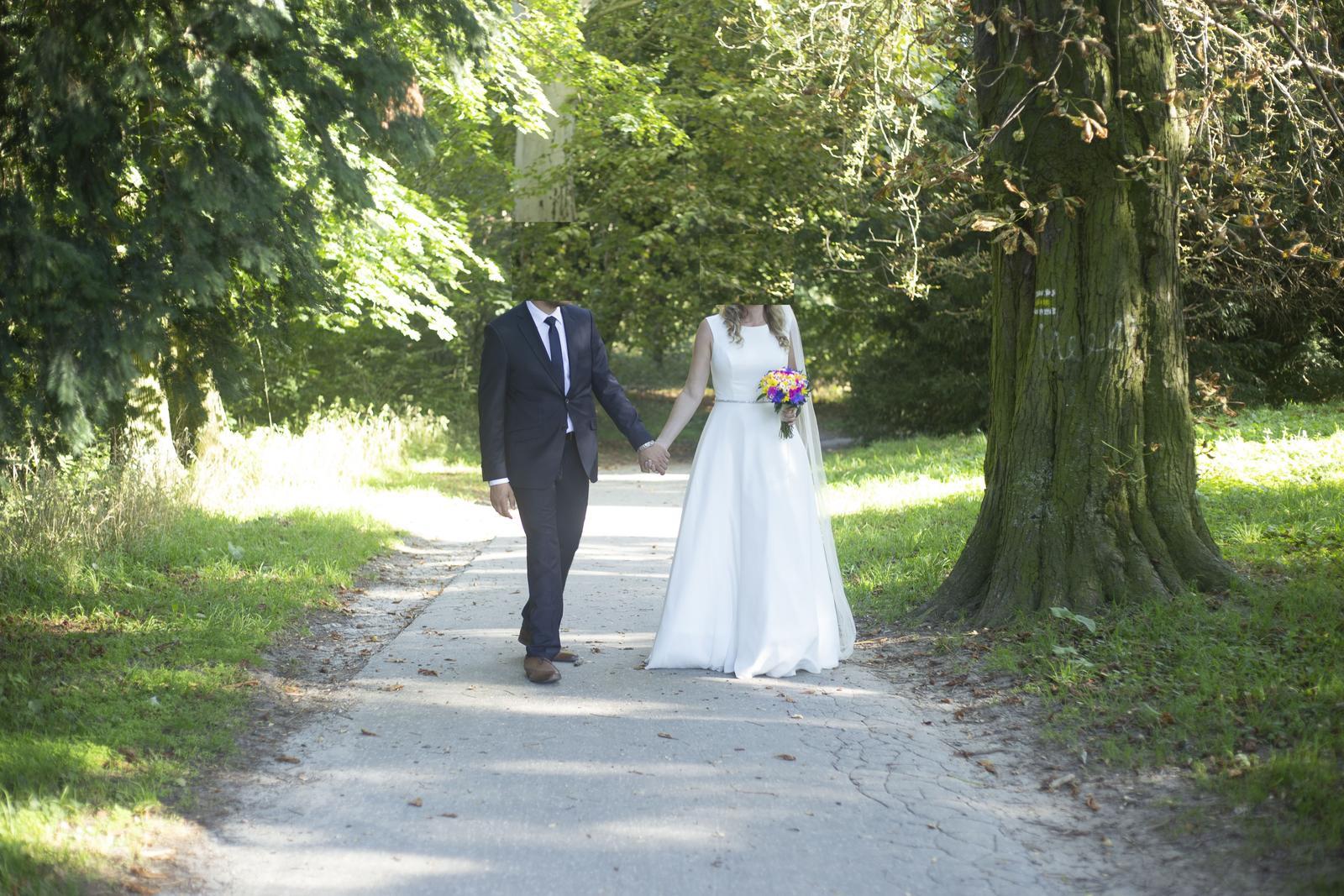 svadobné šaty, ivory (38-40)+ spodnička zadarmo - Obrázok č. 2