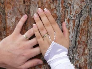 Detail našich prstýnků.