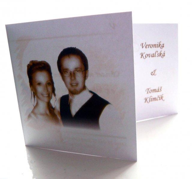 Veronika&Tomik - Vlastnorucne navrhnute a spravene oznamenie