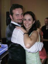 """To jsme my dva """"v akci"""" na svatbě našich výborných kamarádů..."""