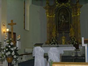 takto bol vyzdobený kostol